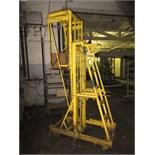 Mobile Telescoping Work Platform, manual ratchet type lift. HIT# 2179377. texture area. Asset