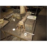 Lot (3pcs) Metal Fabrication Equipment, includes: (1) bench type power roll, (2) rod cutters. HIT#