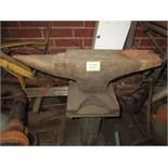 Anvil, with pedestal. HIT# 2179343. basement weld shop. Asset Located at 10 Valley St, Pulaski, VA