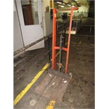 Wesco Hydraulic Platform Lift, foot operated. HIT# 2179386. twister area. Asset Located at 10 Valley