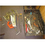 Lot (approx. 50pcs) Assorted Hand Tools, includes but not limited to: pipe wrenches, bolt cutter,