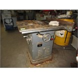 """Delta Rockwell 34-450 10"""" Unisaw. SN# EV-3577. HIT# 2179316. basement crib. Asset Located at 10"""