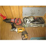 Lot of (3) Electric Drills, includes: (1) B&D Industrial right angle drill, with case, (1) DeWalt