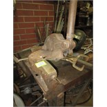 Hand Shear, must be removed from bench. HIT# 2179340. basement weld shop. Asset Located at 10