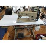 Brother Exedra DB2-B737-403 industrial flatbed sewing machine, three phase. NB: this item has no CE