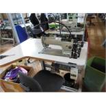 Aisin Seiki Ltd LS2-AD158-203 industrial flatbed sewing machine, three phase. NB: this item has no