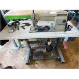 Mitsubishi LS2-190 industrial flatbed sewing machine, three phase. NB: this item has no CE marking.