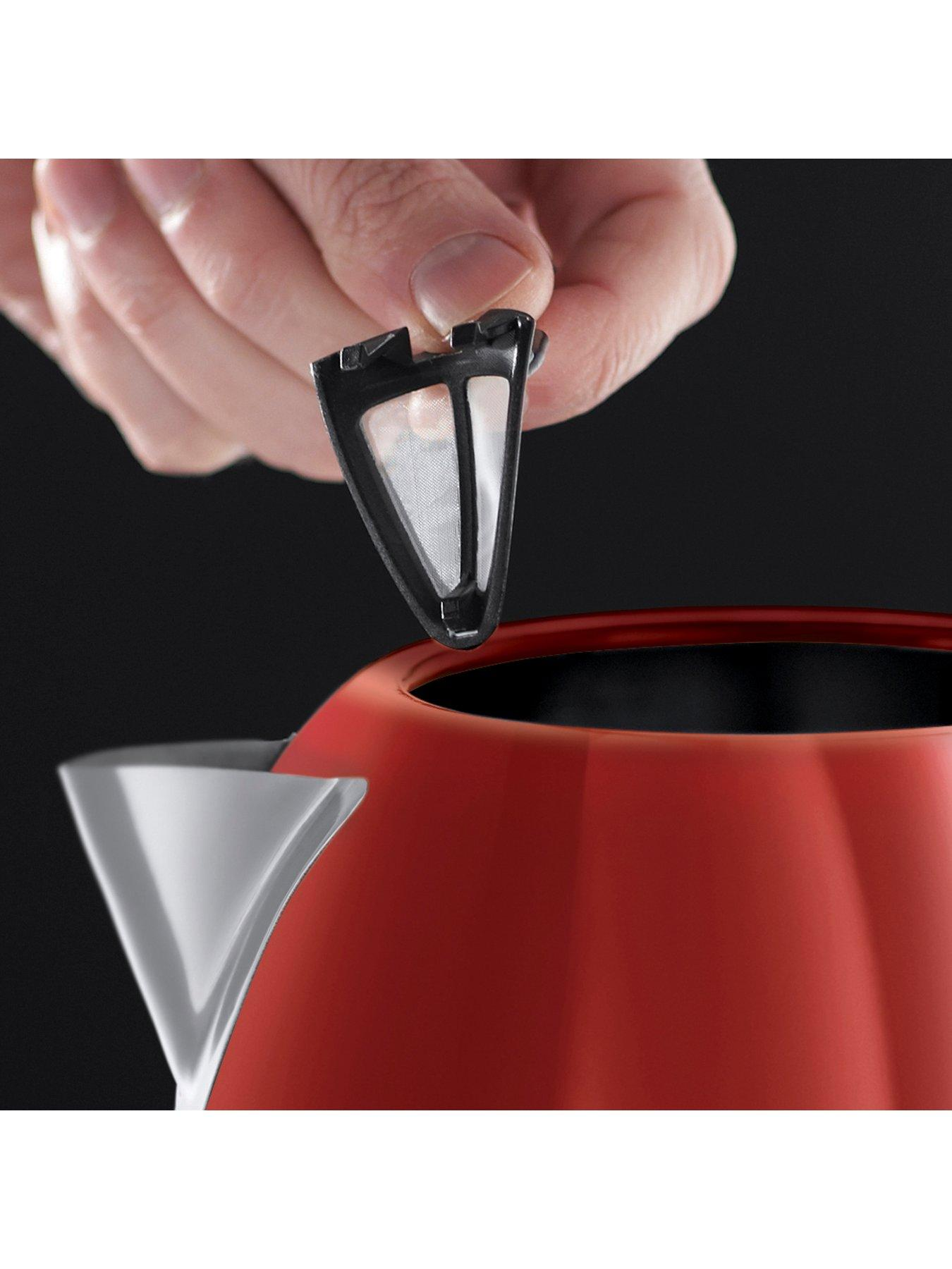 Lot 50758 - V Brand New Russel Hobbs Red Dorchester Kettle - Perfect Pour - Saves Up To 70% Energy - Littlewoods