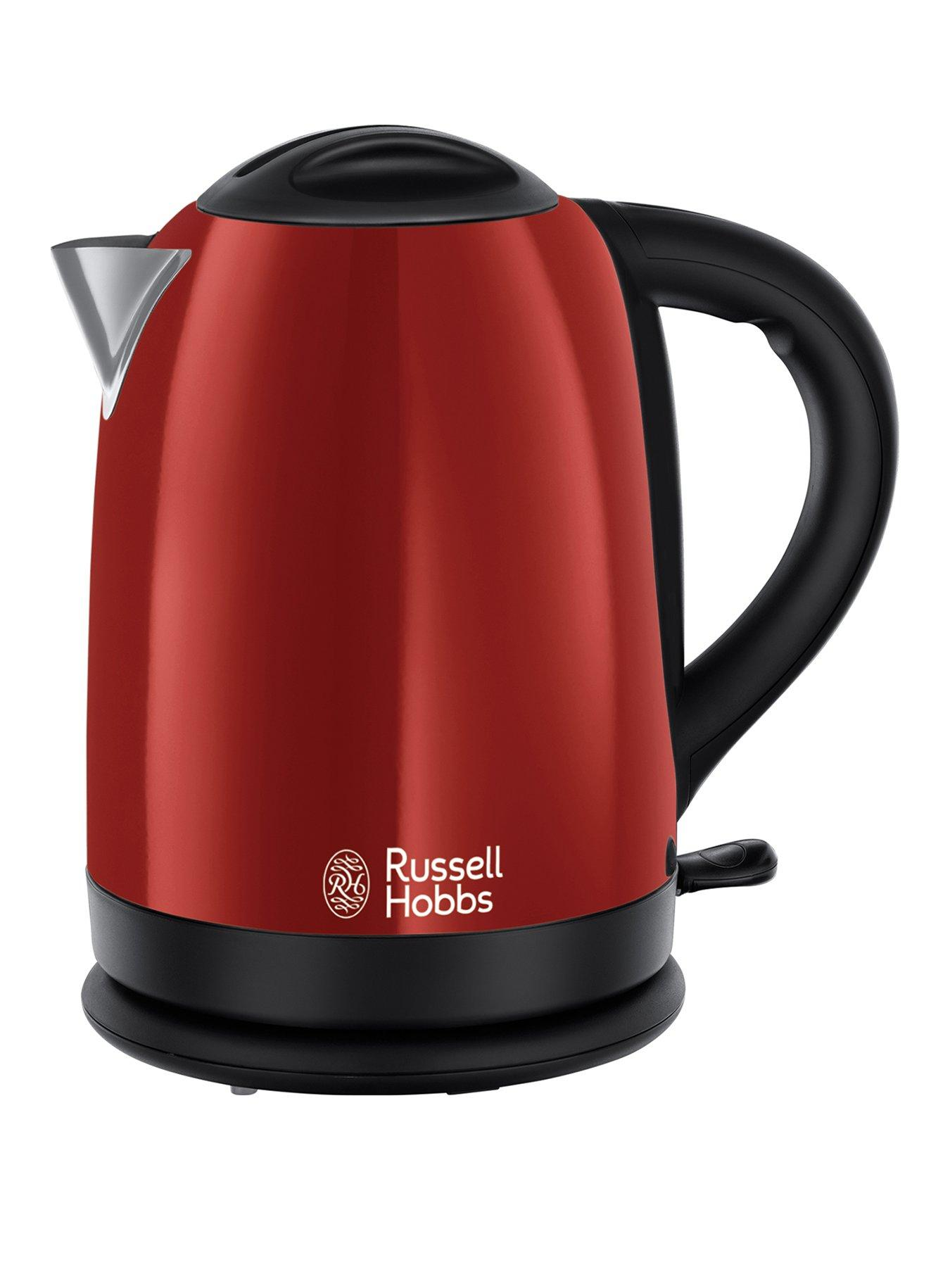 Lot 50083 - V Brand New Russel Hobbs Red Dorchester Kettle - Perfect Pour - Saves Up To 70% Energy - Littlewoods