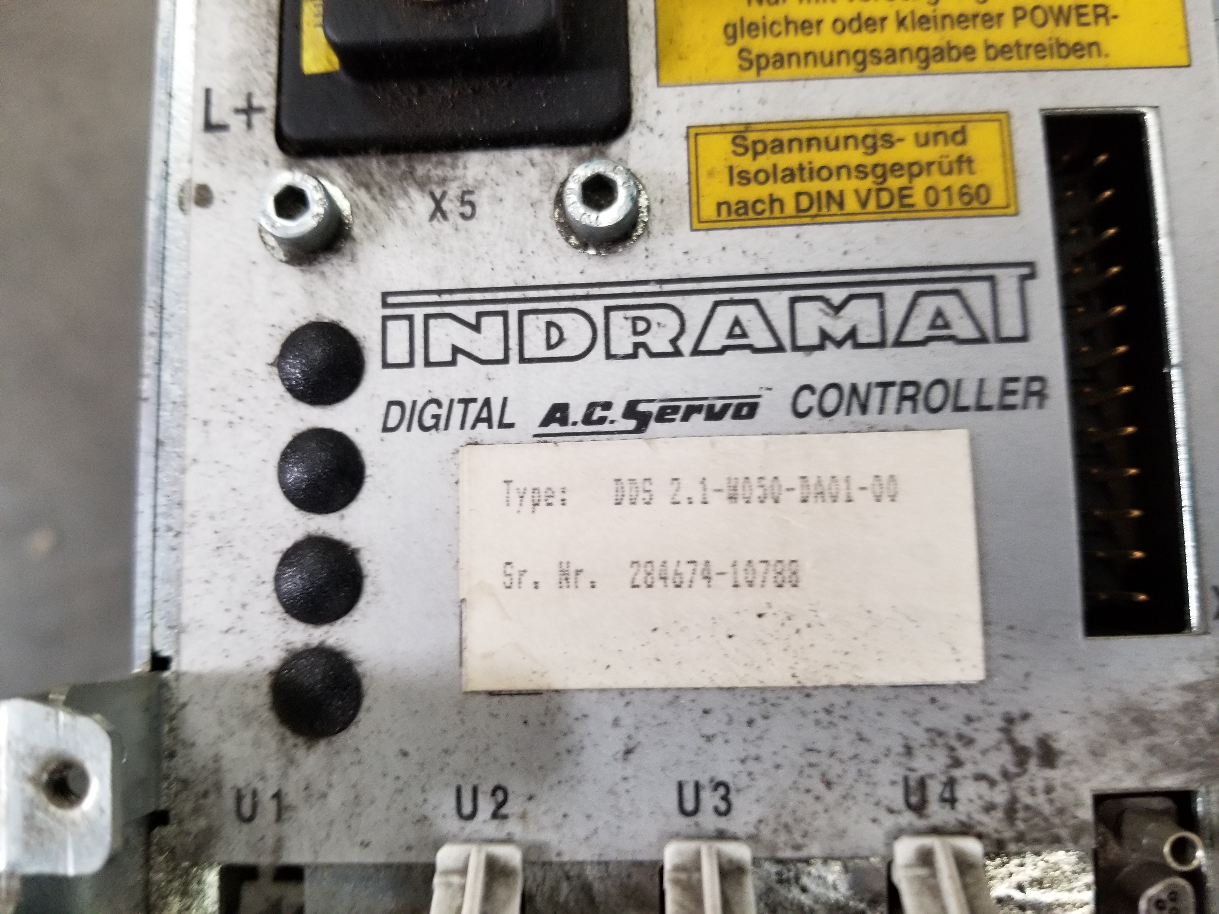 Lot 51 - INDRAMAT DIGITAL AC SERVO CONTROLLER
