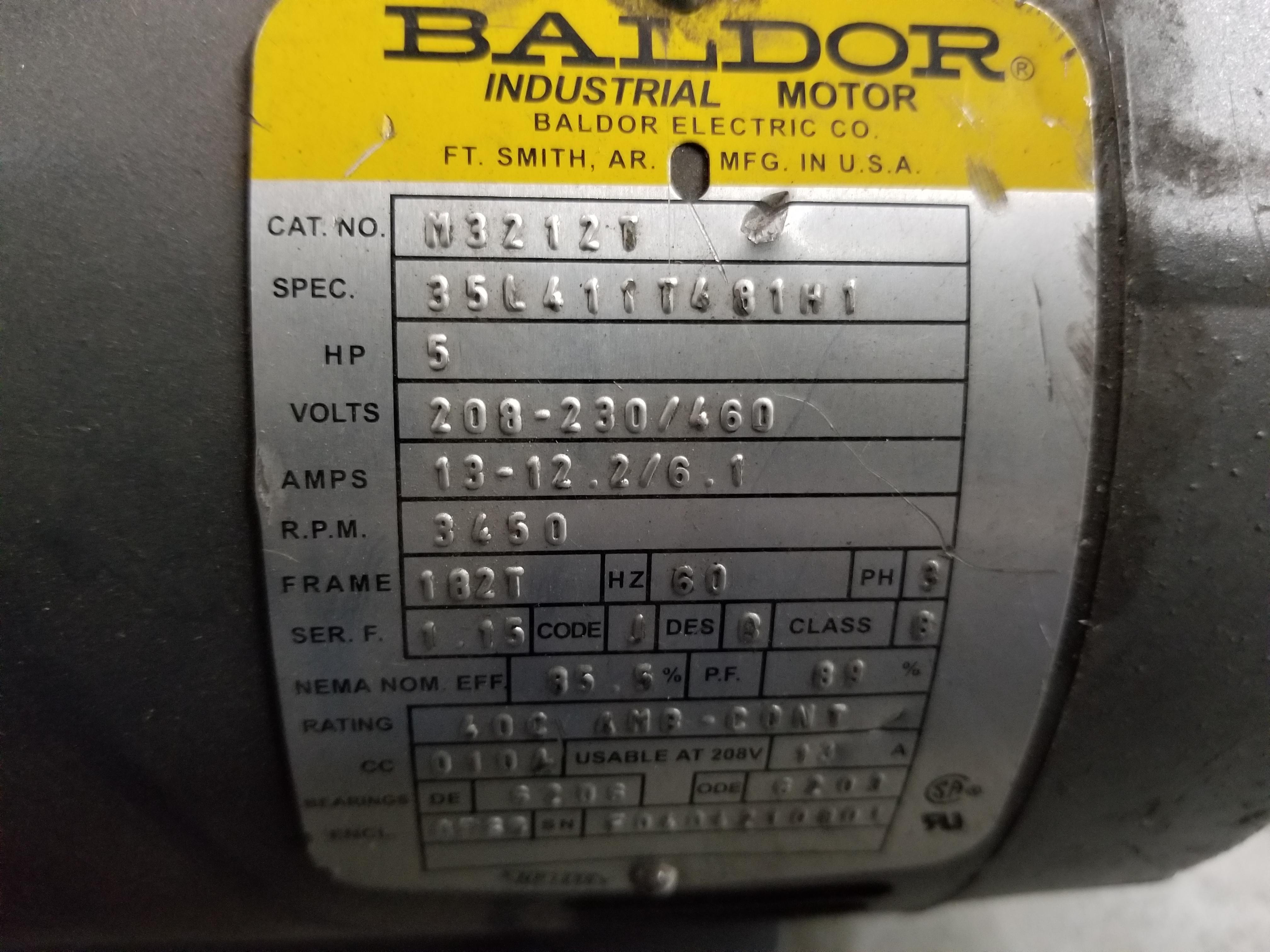 Lot 34 - BALDOR INDUSTRIAL MOTOR
