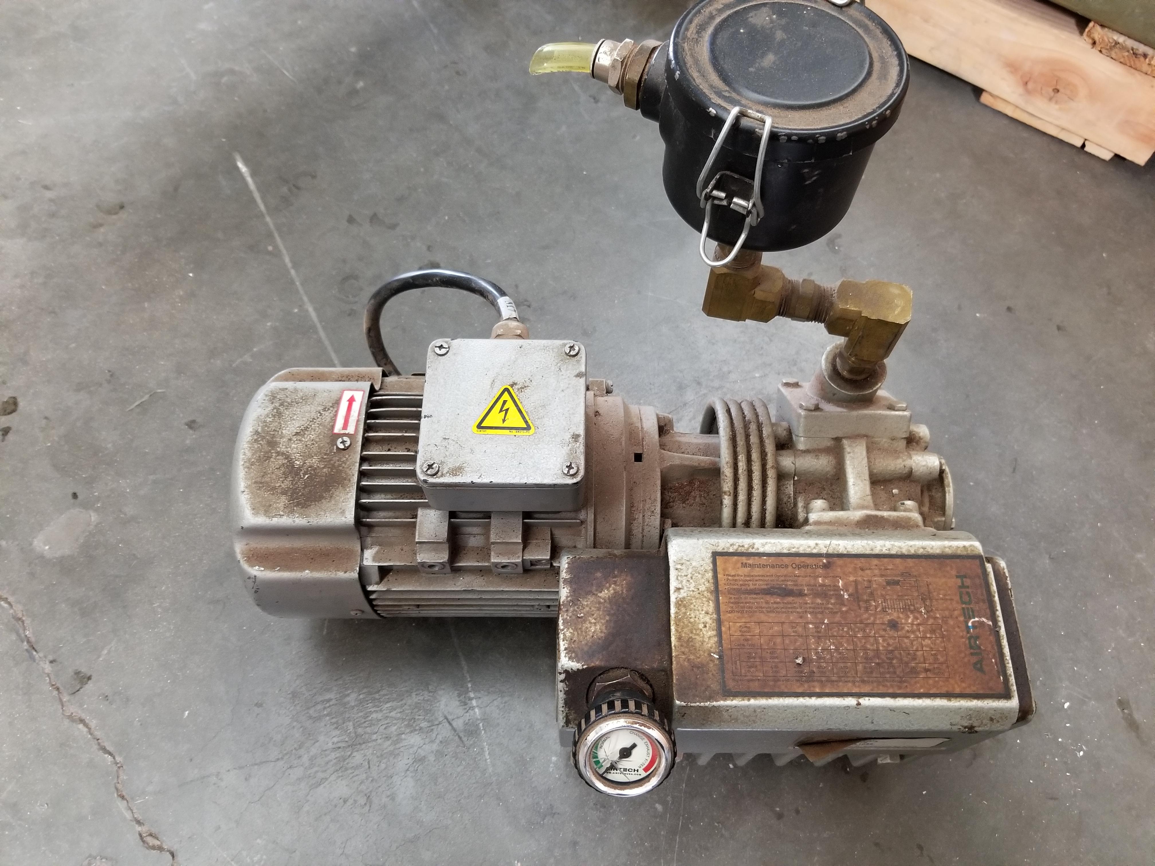 Lot 59 - AIRTECH VACUUM PUMP WITH MARATHON ELECTRIC MOTOR