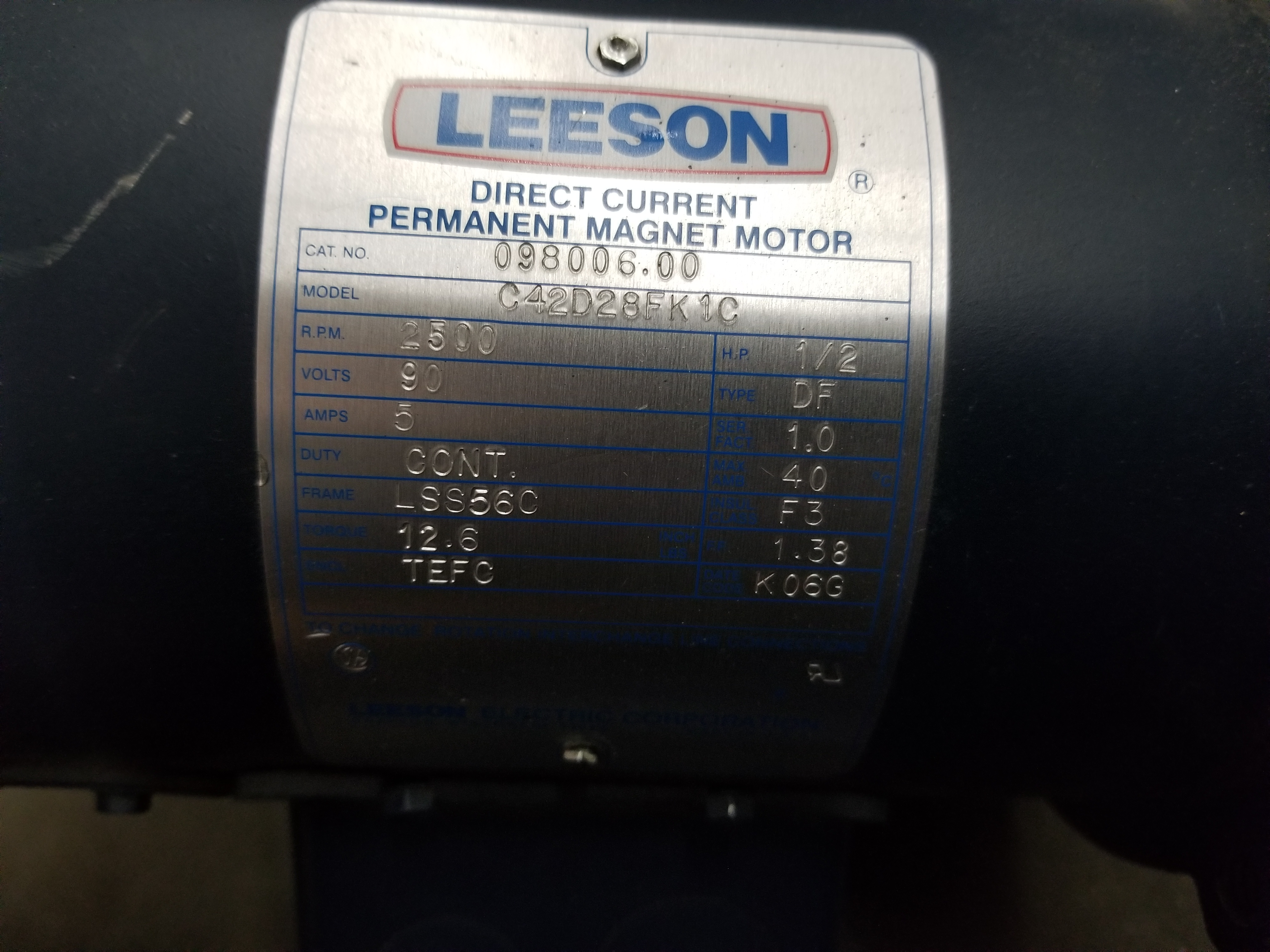 Lot 31 - LEESON PERMANENT MAGNET MOTOR