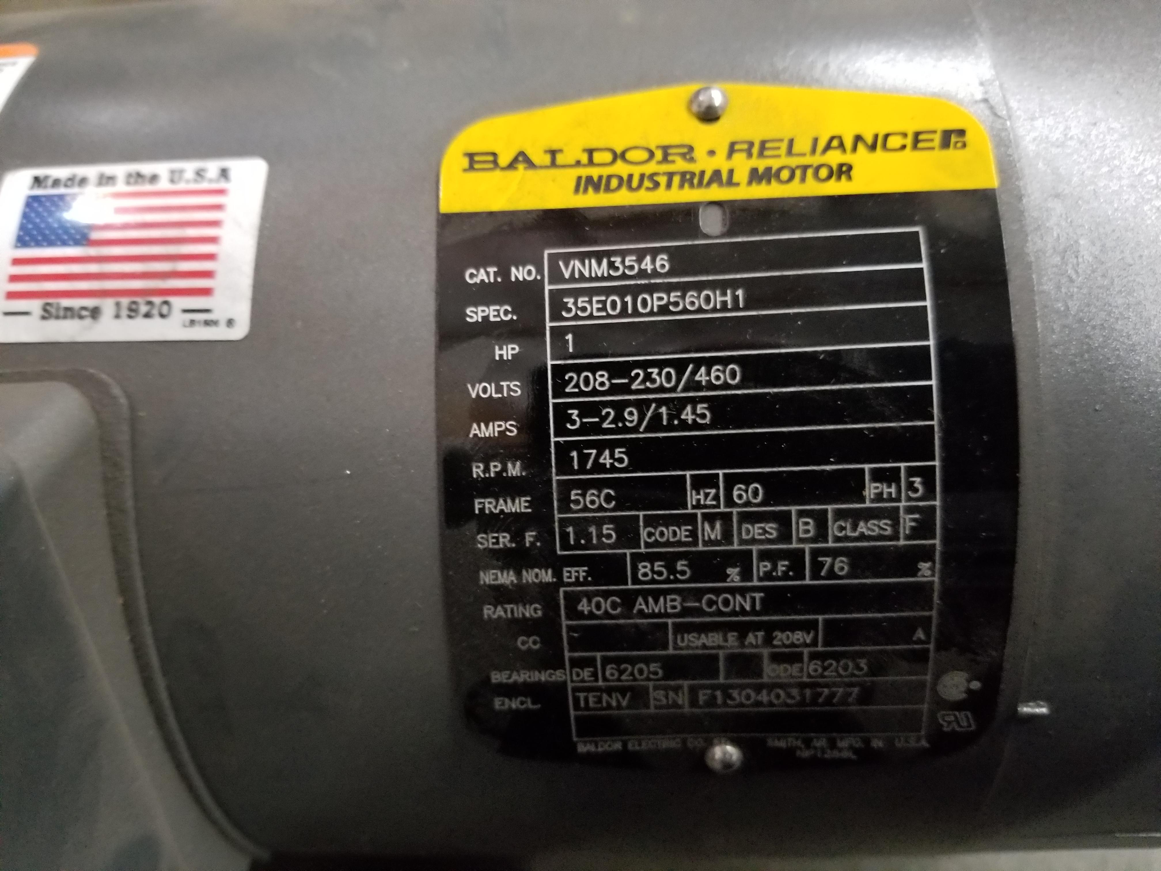 Lot 22 - BALDOR RELIANCE INDUSTRIAL MOTOR