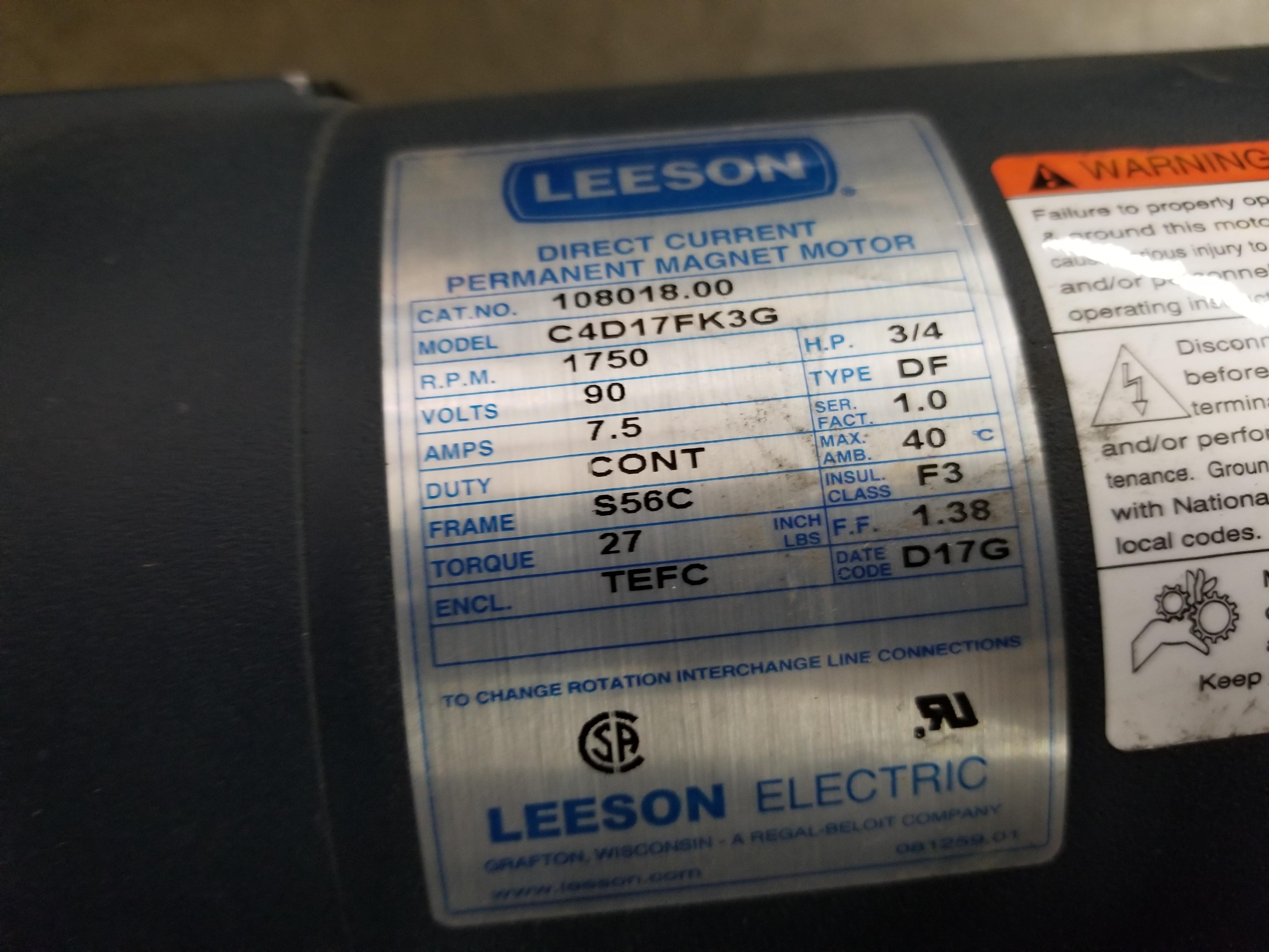 Lot 33 - LEESON PERMANENT MAGNET MOTOR