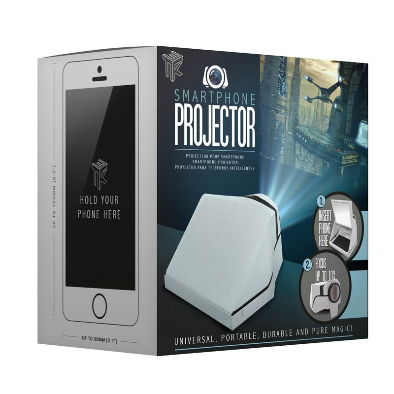 """Lot 10015 - V Brand New Smartphone Projector - Projects 40"""" Screen - Focus Up To 10x - ISP £19.99 (Paladone)"""