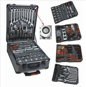 Lot 11590 - V Brand New 186pc (Minimum) Tool Kit In Wheeled Carry Case Includes Rachet Spanners