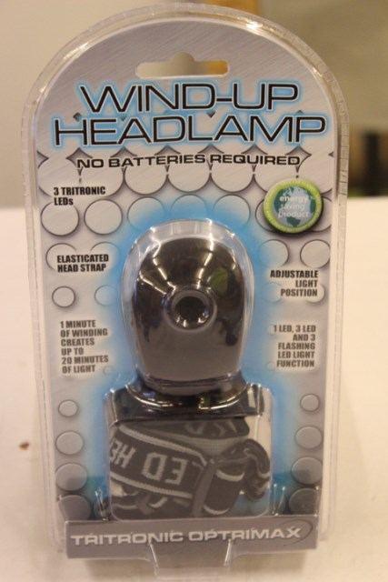 Lot 10032 - V Brand New Tritronic Optrimax Wind-Up Head Lamp