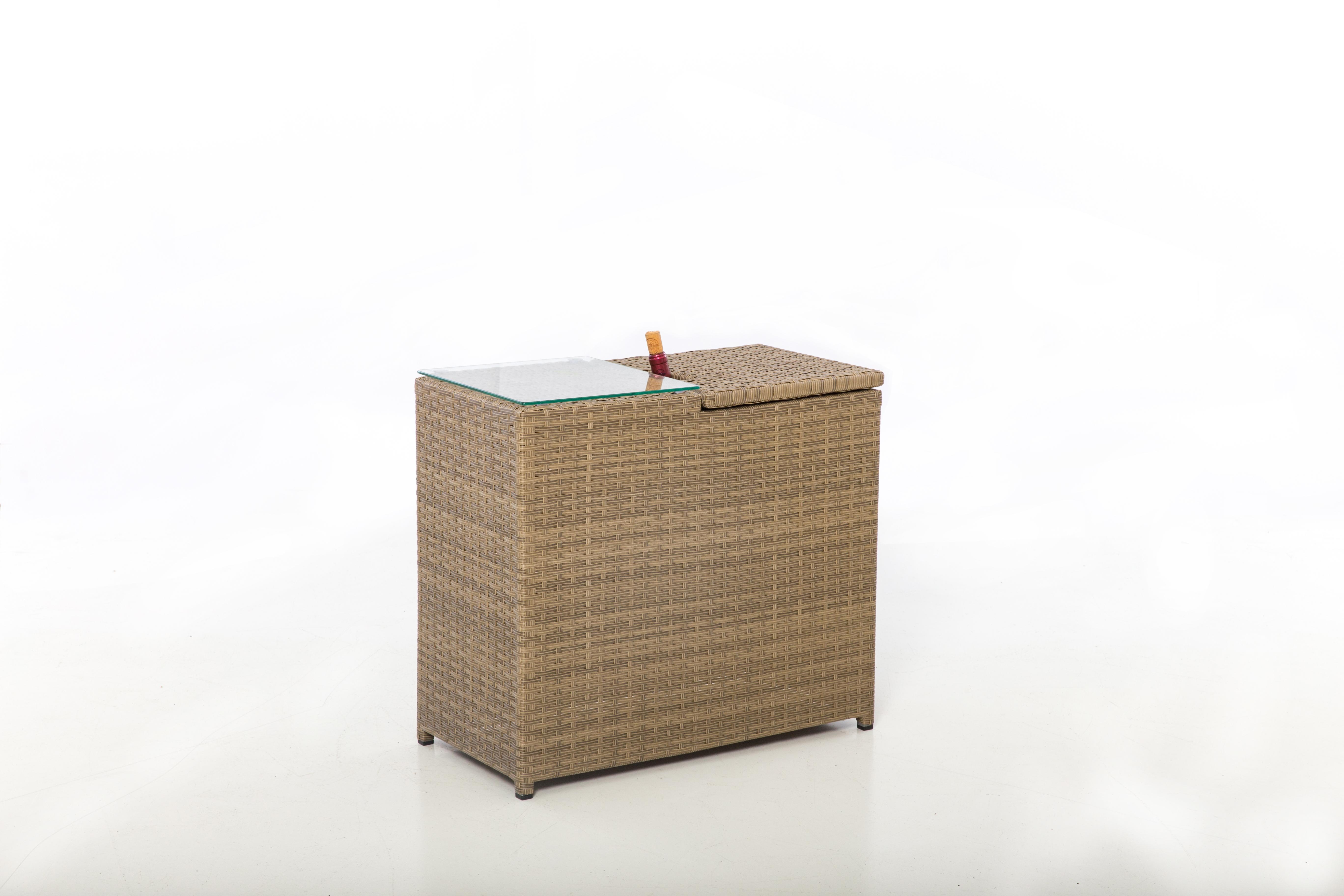 Lot 18 - Rattan Tuscany Ice Bucket Side Table *BRAND NEW*