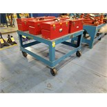 """45""""X43""""X28"""" H Steel 1500# Rolling Table"""