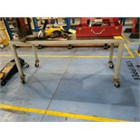 """24"""" X 60""""X28""""H Steel Rolling Table"""