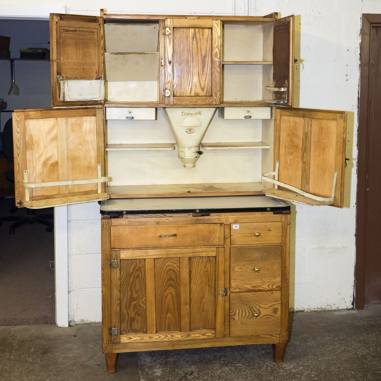 Restored Easiwork 1920s kitchen cabinet with original ...