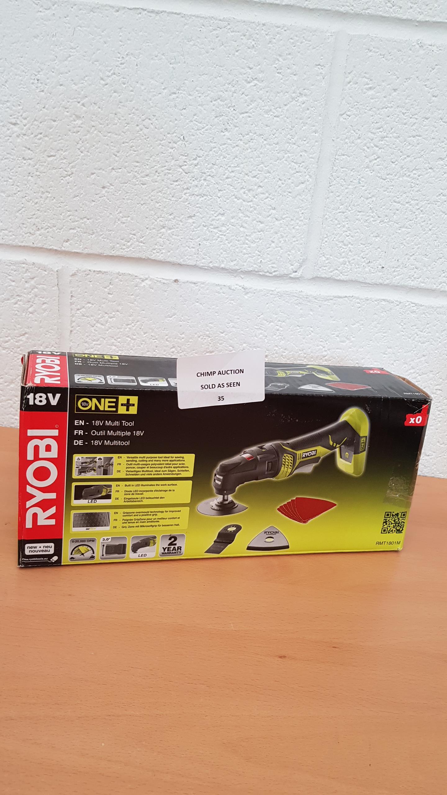 Lot 35 - Ryobi RMT1801M One+ Multi Tool, 18 V RRP £89.99