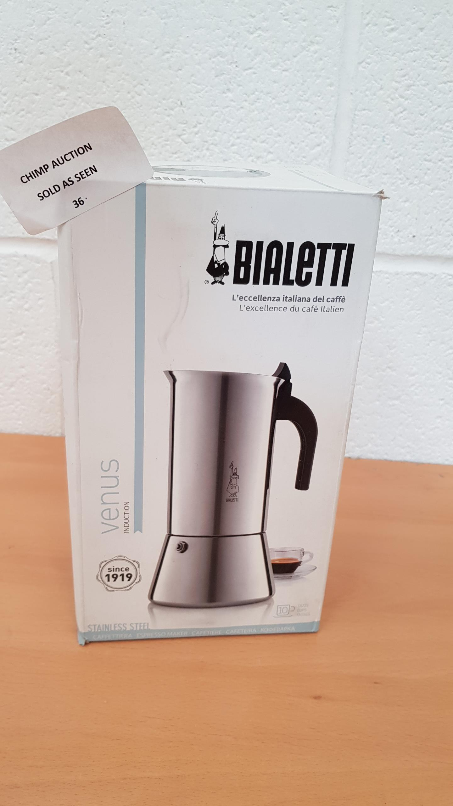Lot 36 - Bialetti Venus Induction Espresso Maker 10 Cup