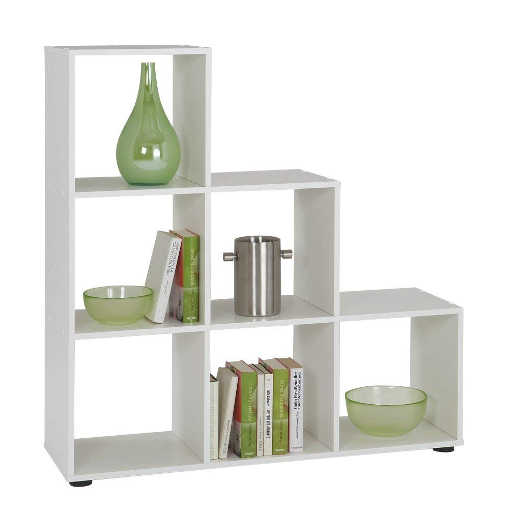 Lot 22 - FMD Bookcase Mega 1, 104.5 x 108.5 x 33.0 cm, White