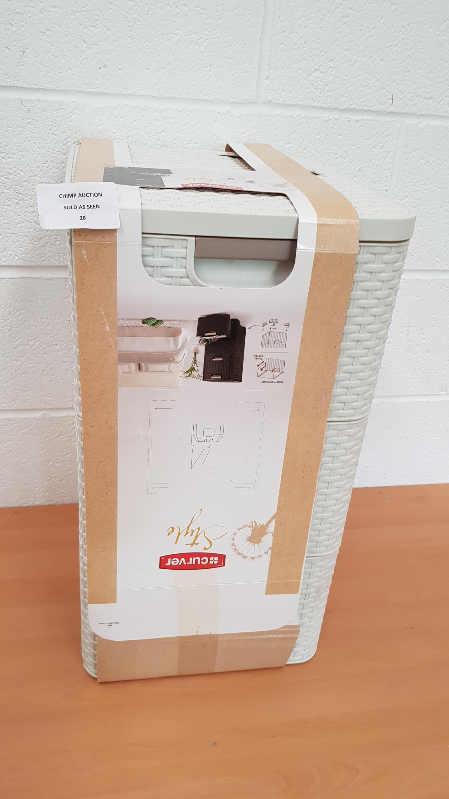 Lot 28 - Curver 3 x 14 Litre Plastic Style Drawer Tower, White RRP £69.99