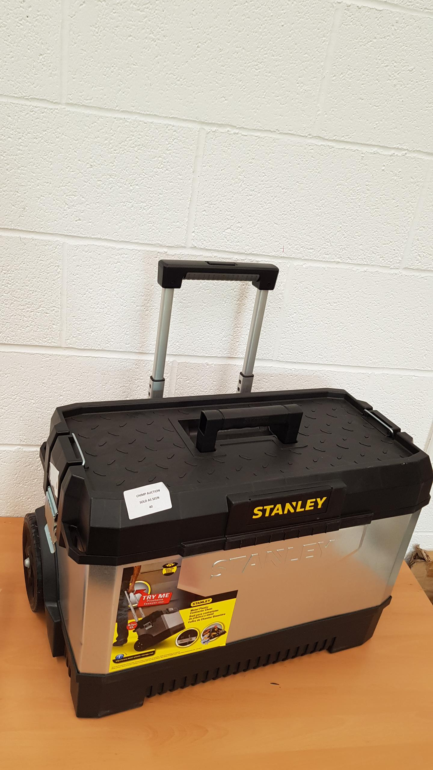 Lot 40 - Stanley 195828 26-inch Galvanised Rolling Toolchest RRP £79.99