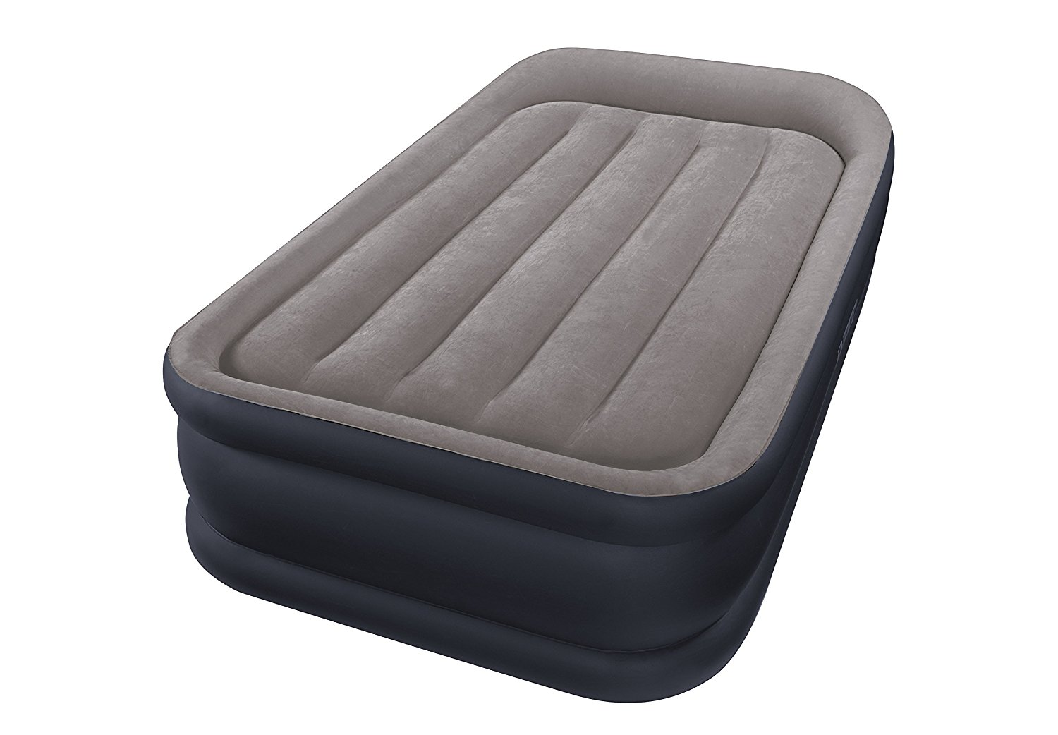 Lot 55 - Intex Deluxe Pillow Rest Raised Airbed and Built-in Pump