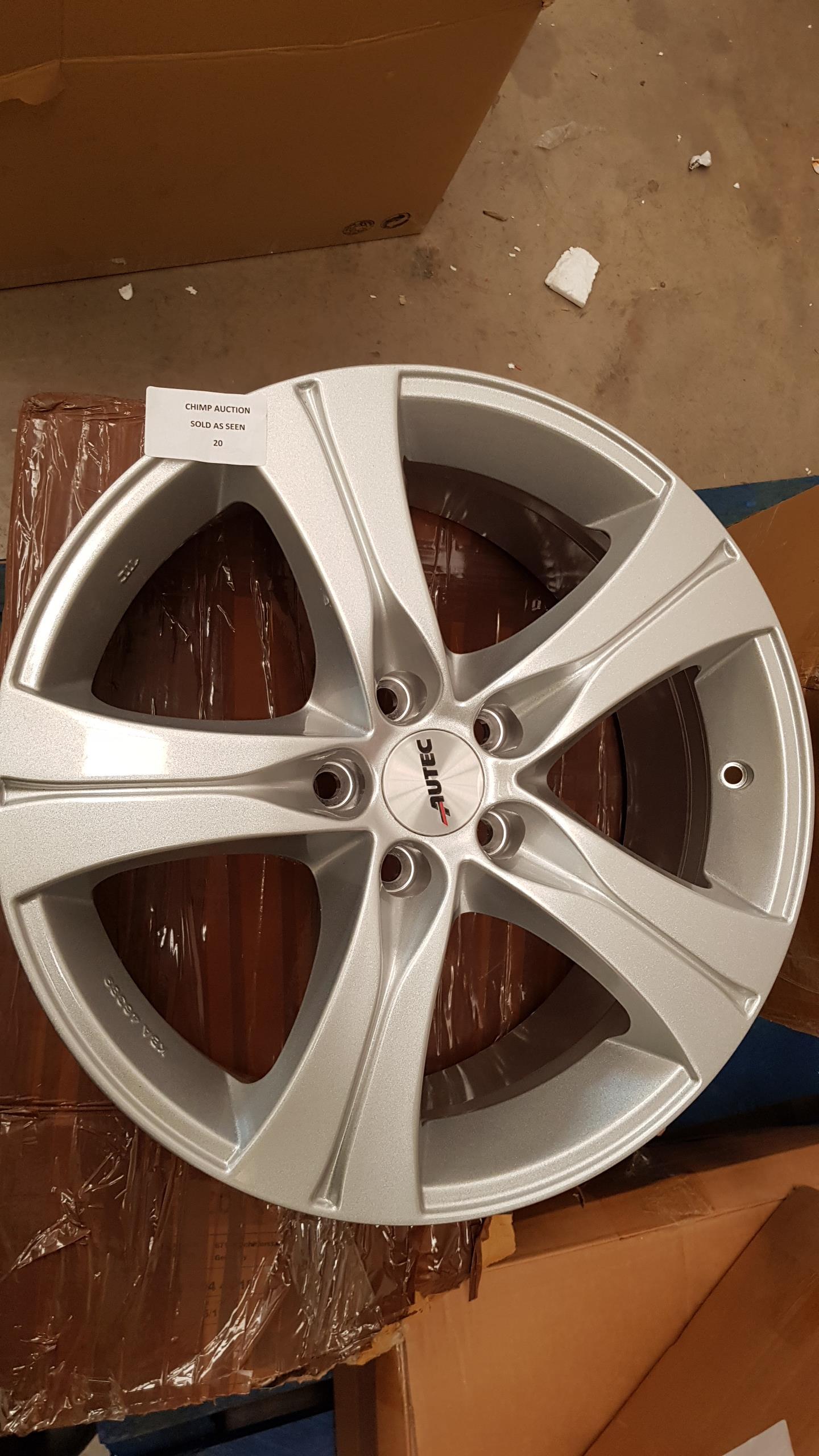 "Lot 20 - 1X set of Autec 15"" allow wheel"