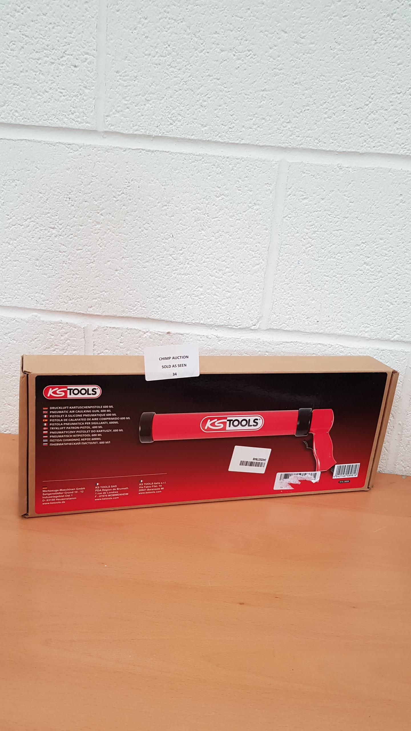 Lot 34 - KS Tools 515.3920 Tyre Silicone Sealant Gun 600ml RRP £79.99