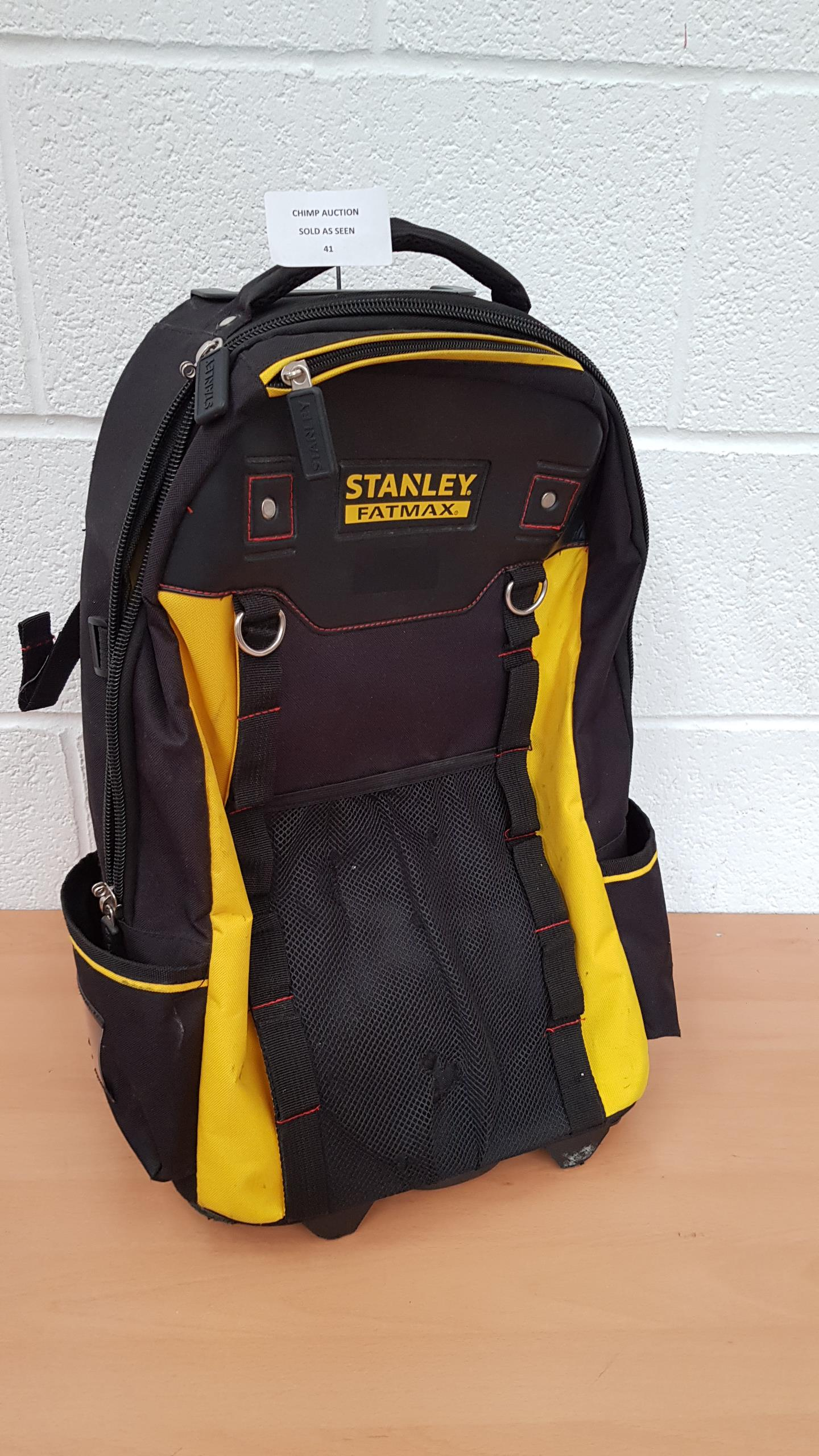 Lot 41 - Stanley Fatmax Tool backback