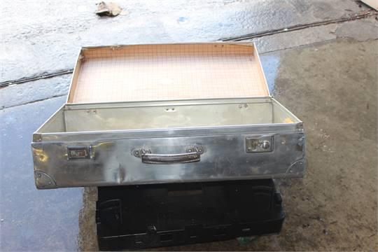 vintage aluminum suitcase
