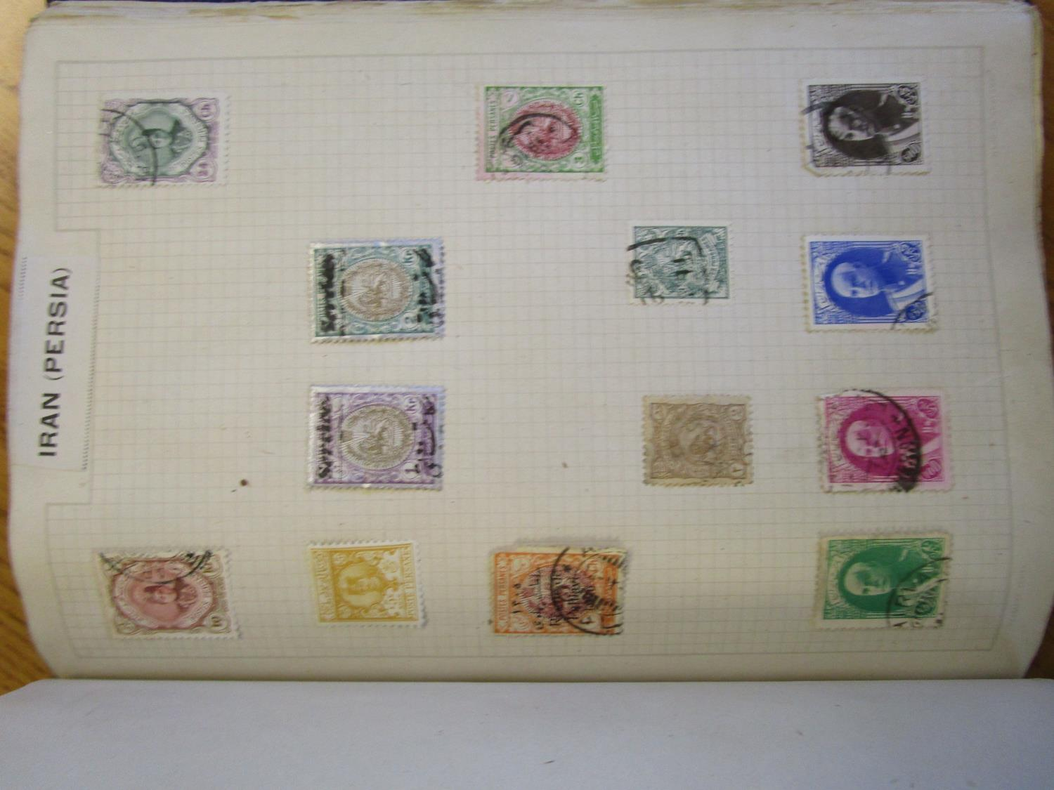 Mixed stamps from around the world mounted in albums and loose to include Victorian Penny Reds, - Image 14 of 18