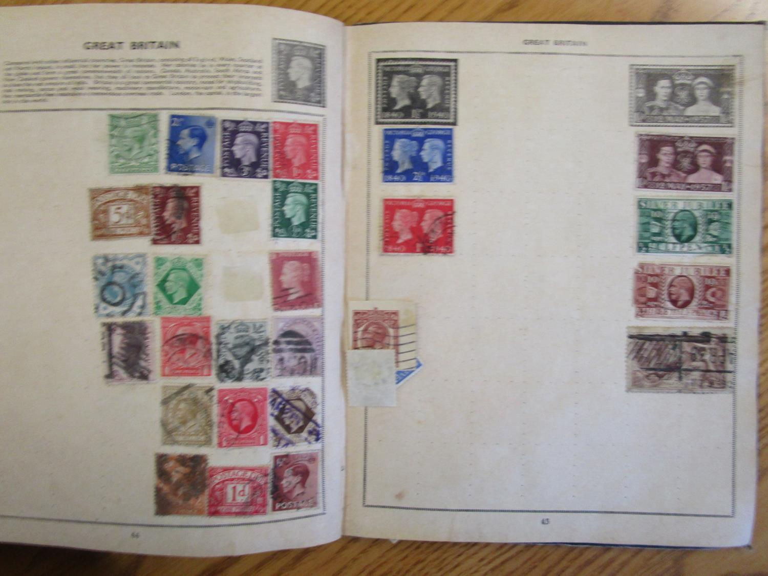 Mixed stamps from around the world mounted in albums and loose to include Victorian Penny Reds, - Image 8 of 18
