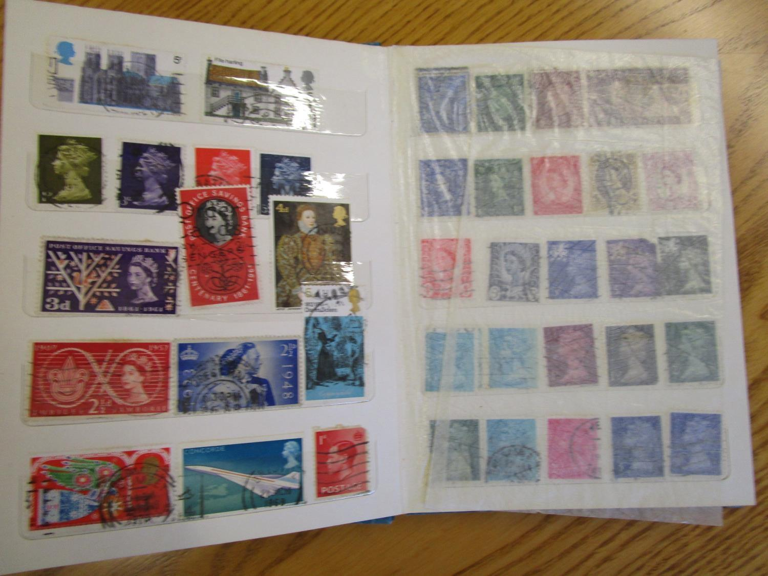 Mixed stamps from around the world mounted in albums and loose to include Victorian Penny Reds, - Image 7 of 18