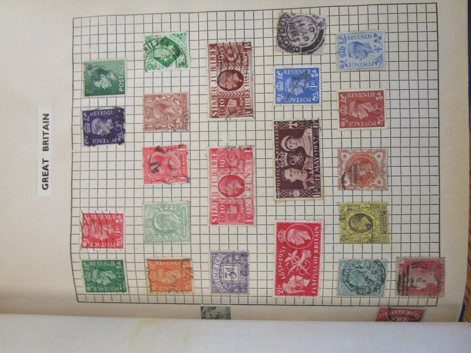 Mixed stamps from around the world mounted in albums and loose to include Victorian Penny Reds, - Image 4 of 18