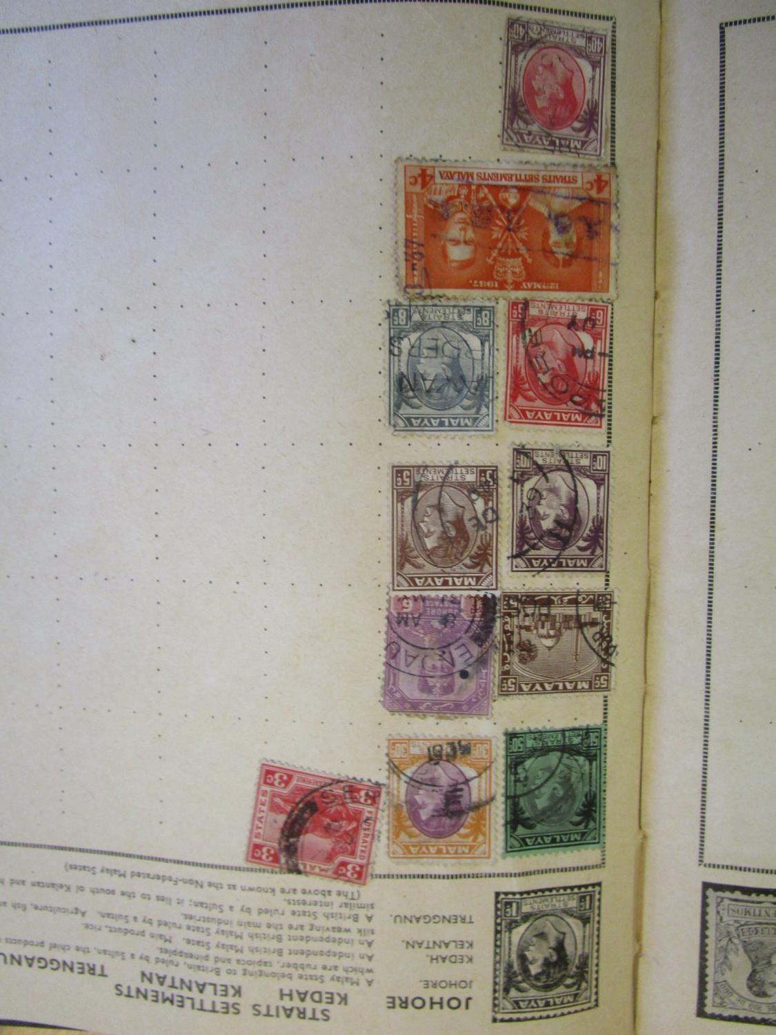 Mixed stamps from around the world mounted in albums and loose to include Victorian Penny Reds, - Image 10 of 18
