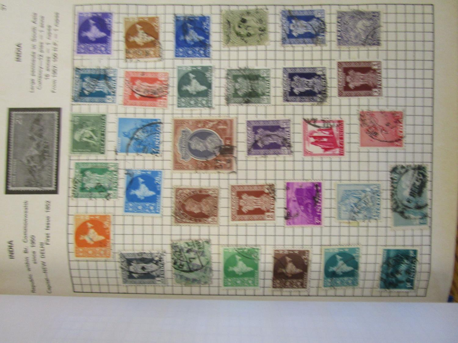 Mixed stamps from around the world mounted in albums and loose to include Victorian Penny Reds, - Image 3 of 18