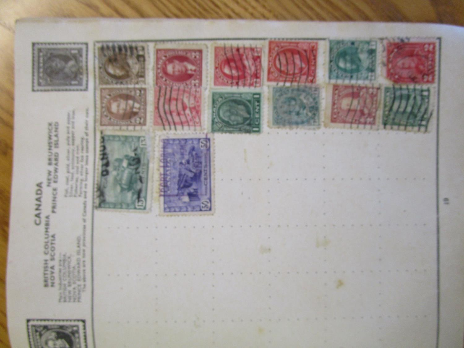 Mixed stamps from around the world mounted in albums and loose to include Victorian Penny Reds, - Image 9 of 18