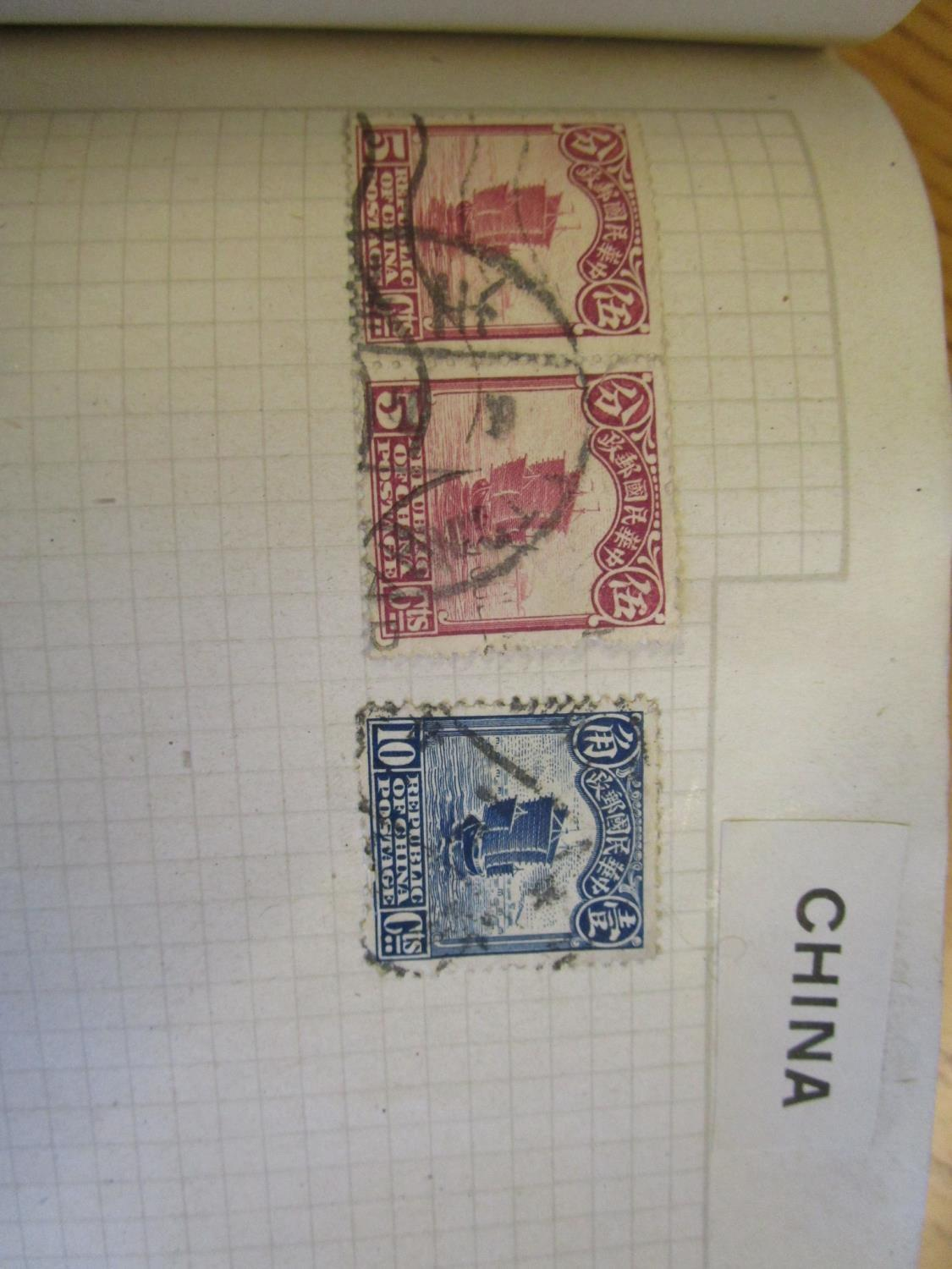 Mixed stamps from around the world mounted in albums and loose to include Victorian Penny Reds, - Image 13 of 18