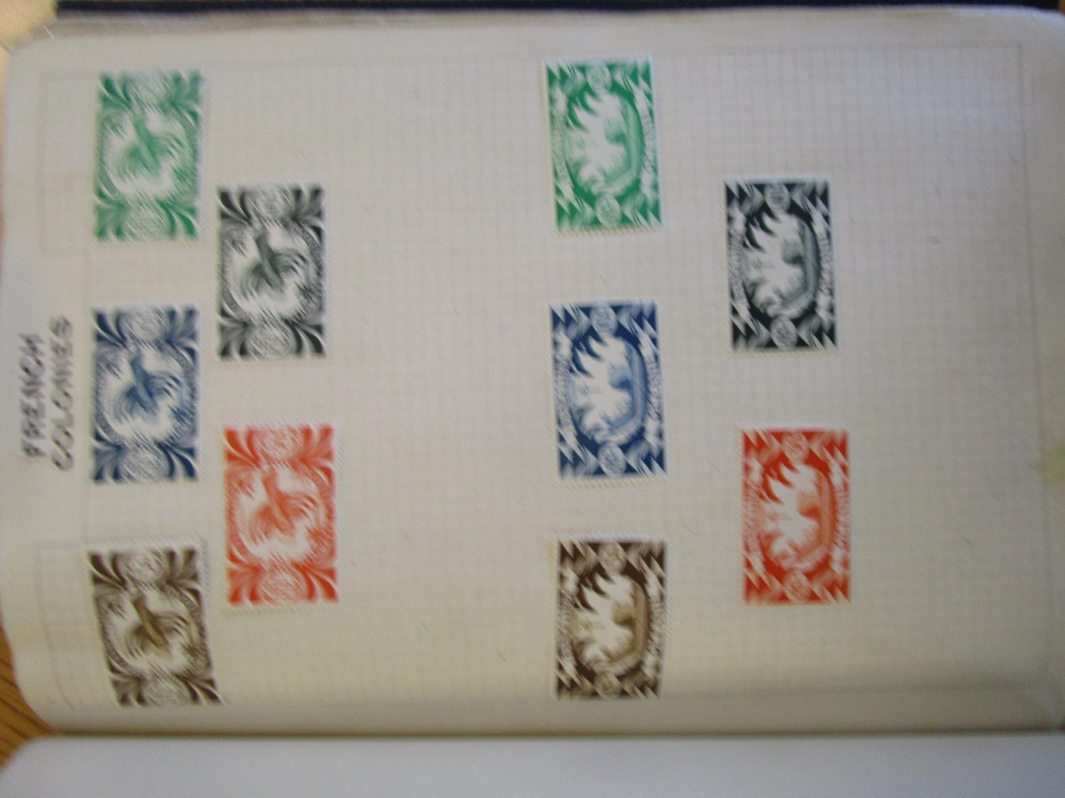 Mixed stamps from around the world mounted in albums and loose to include Victorian Penny Reds, - Image 12 of 18