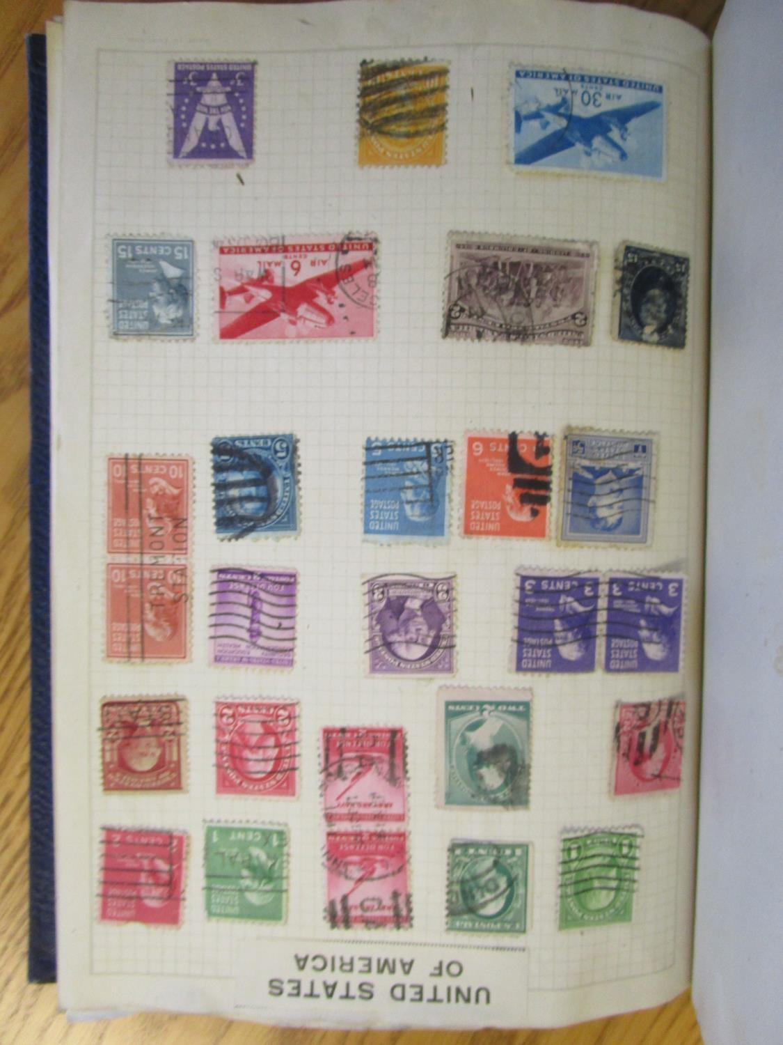 Mixed stamps from around the world mounted in albums and loose to include Victorian Penny Reds, - Image 18 of 18
