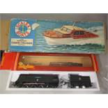 A Scalex Boats electric cabin cruiser boxed, and a Hornby 00 gauge 41 Squadron locomotive