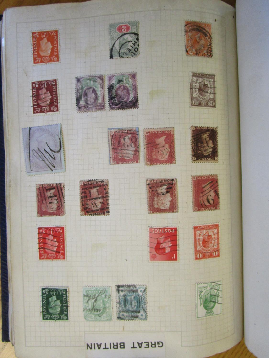 Mixed stamps from around the world mounted in albums and loose to include Victorian Penny Reds, - Image 16 of 18