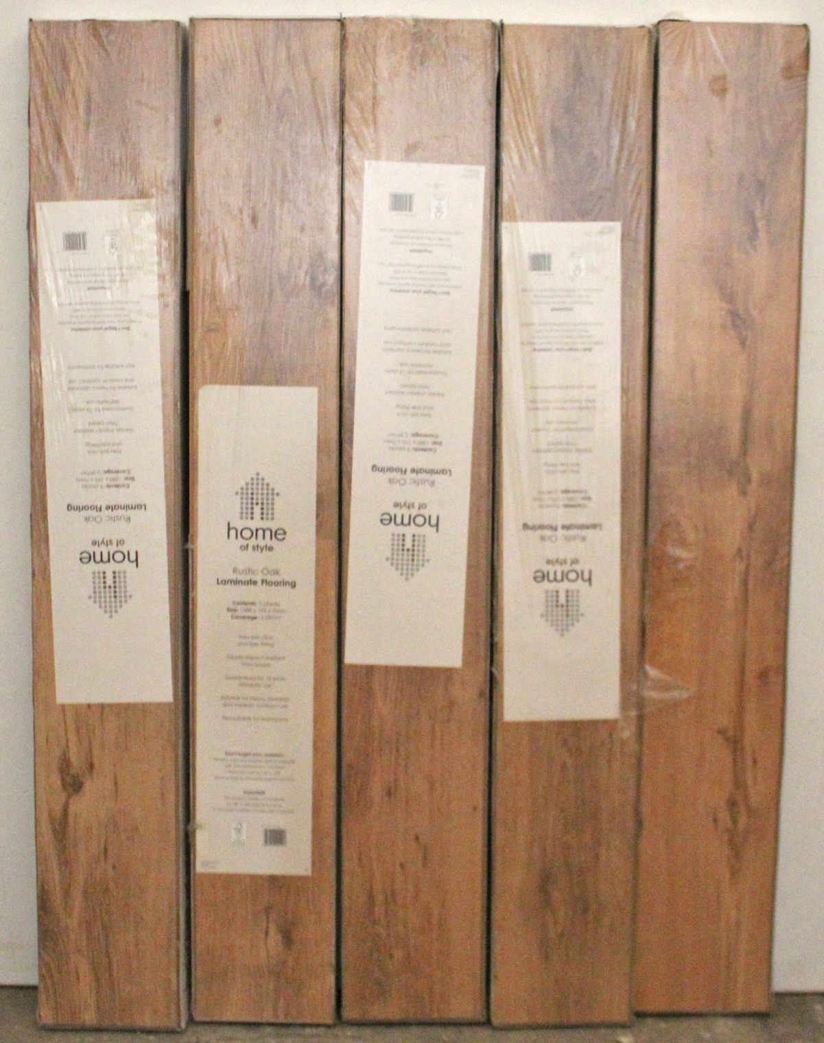 Lot 29 - Five packs of Home-of-Style laminate flooring, - as new.