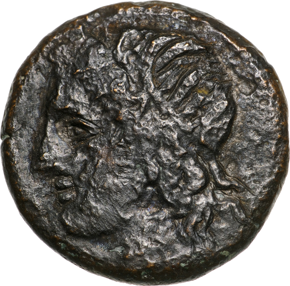 Lot 3453 - Head of Apollo left / boar to left. Calciati 117. VF